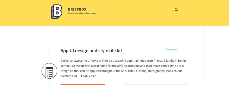 Briefbox some practice brief examples for designers & illustrators