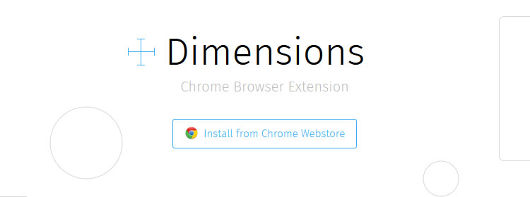 Dimensions, a Chrome Extension for designers to measure screen dimensions