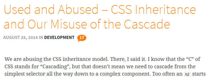 CSS inheritance and our misuse of the Cascade
