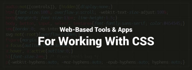 25 Free Web-Based Apps For Working With CSS