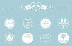 Векторные Свадебные Эмблемы